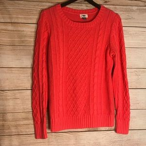 Old navy knitted coral sweater Sz L